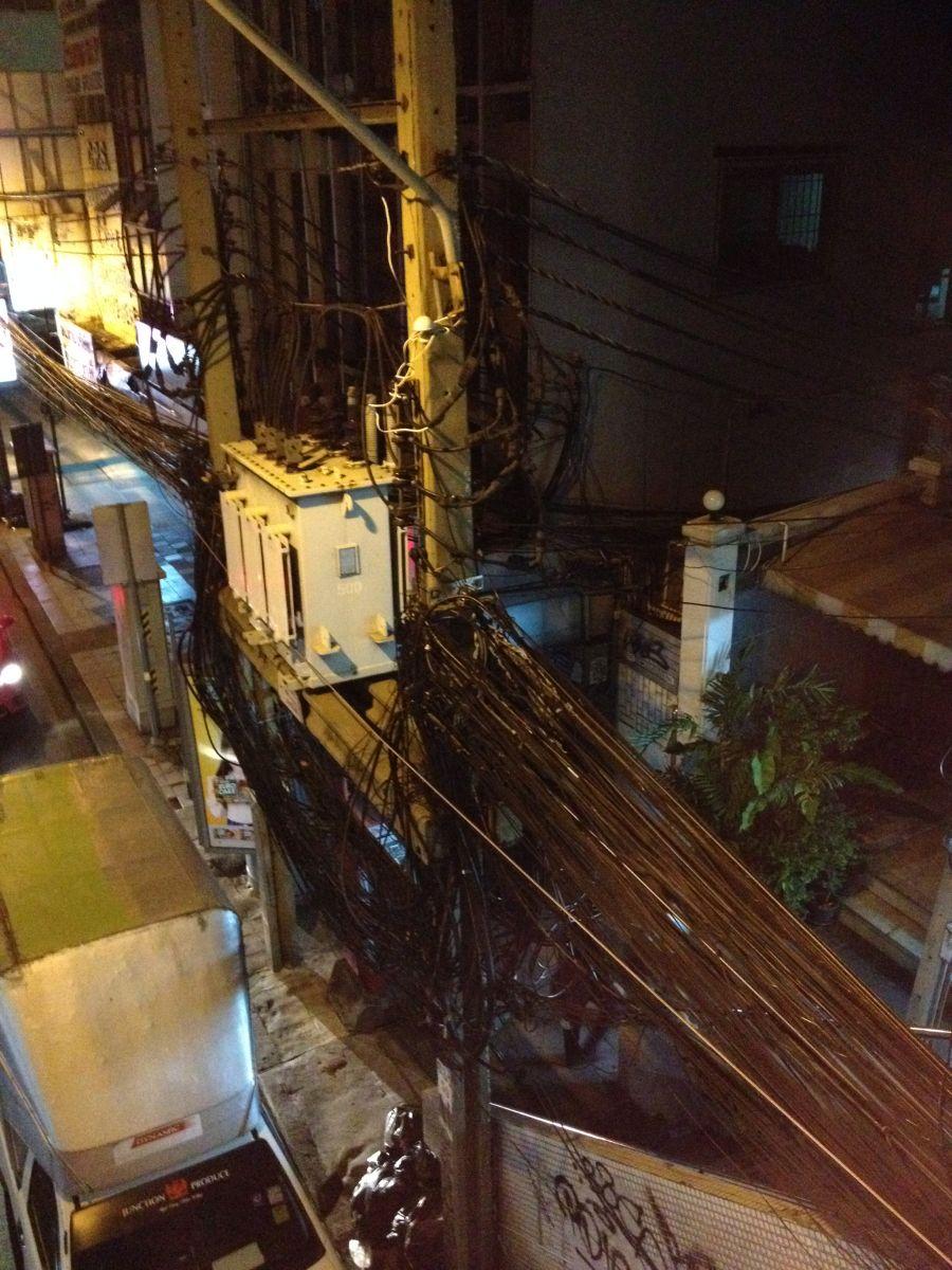 Kabelwirrwarr in Bangkok