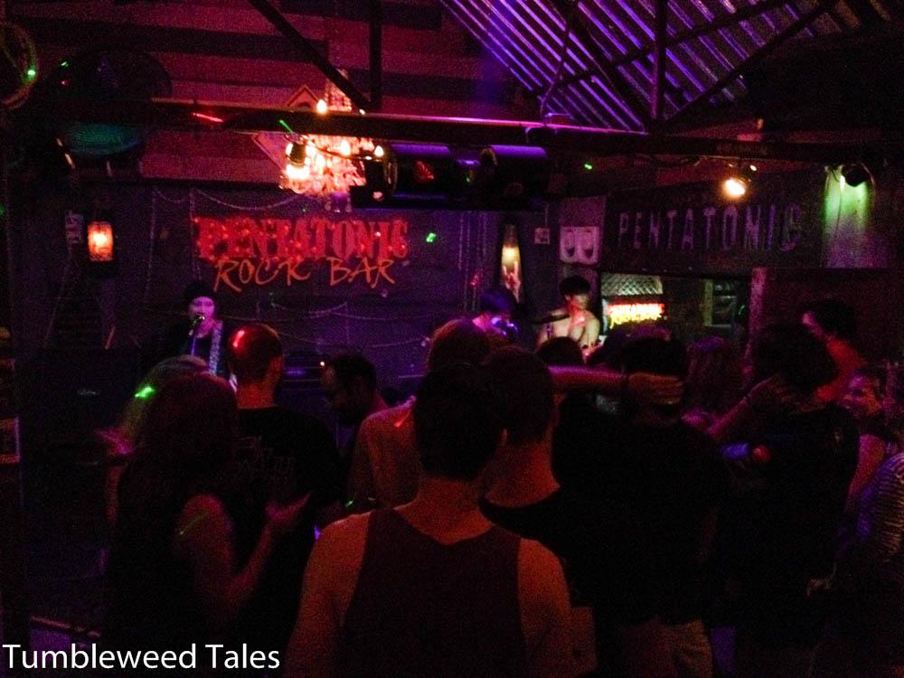 Freitags Abends in der Pentatonic Rock Bar