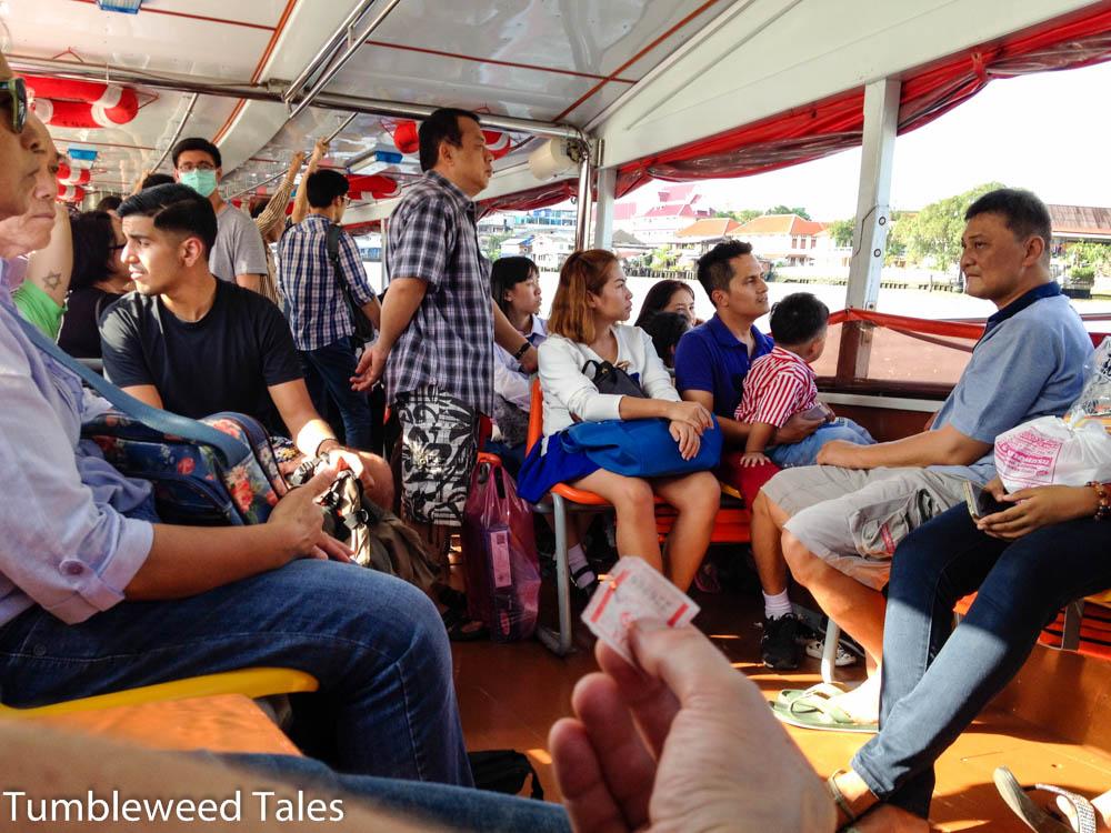 Im Boot auf dem Chao Phraya in Bangkok