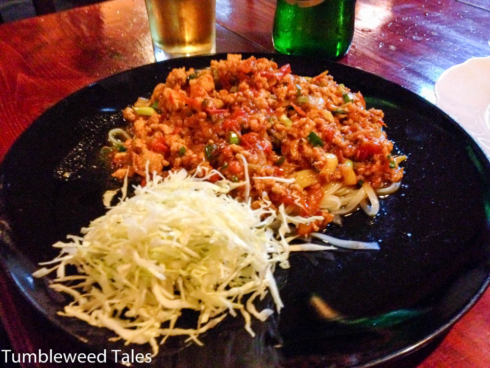 """Burmesische """"Spaghetti Bolognese"""". Wahnsinn!!"""