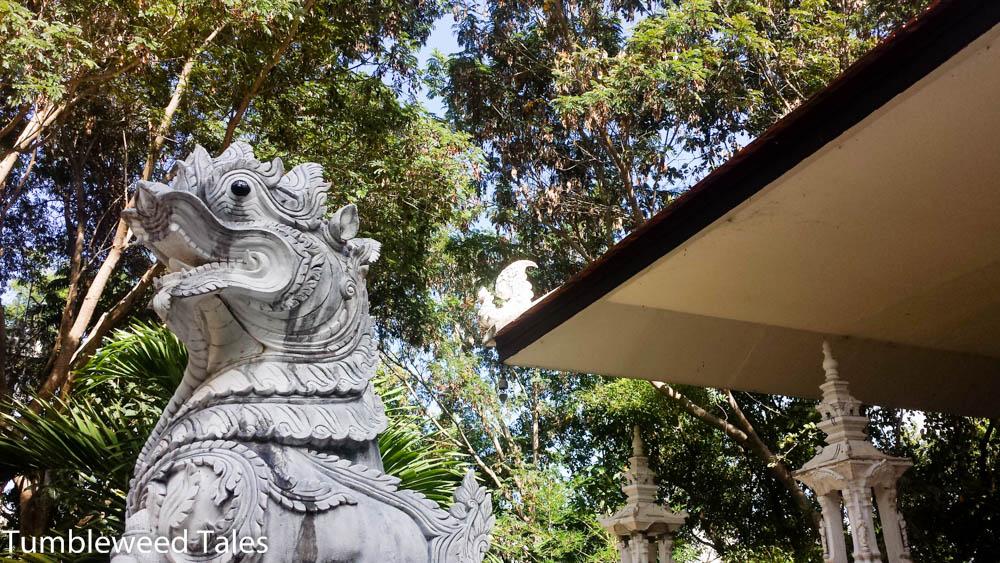 Die Wache vor dem tempel Eingang