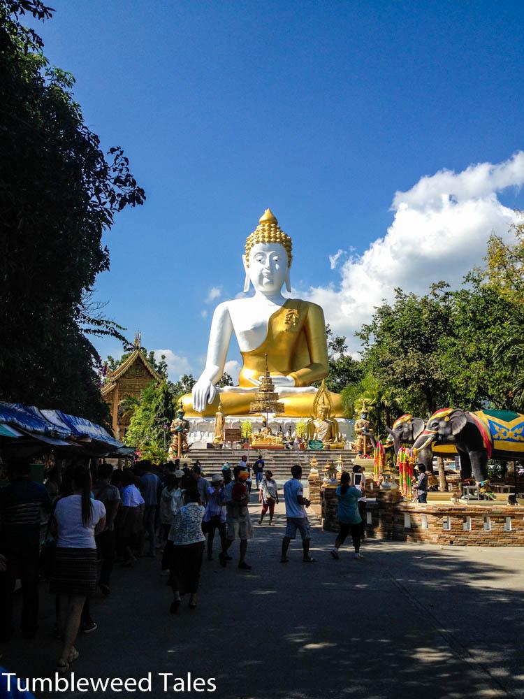 Der Tempel war ziemlich gut besucht