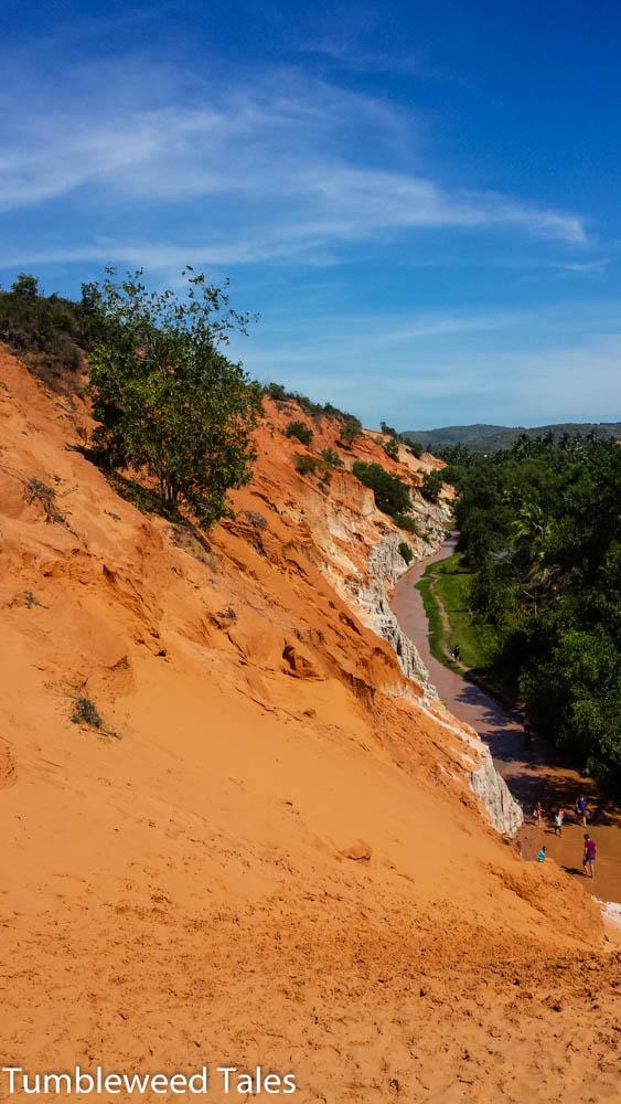 Ausblick von der Düne über den Fairy Stream