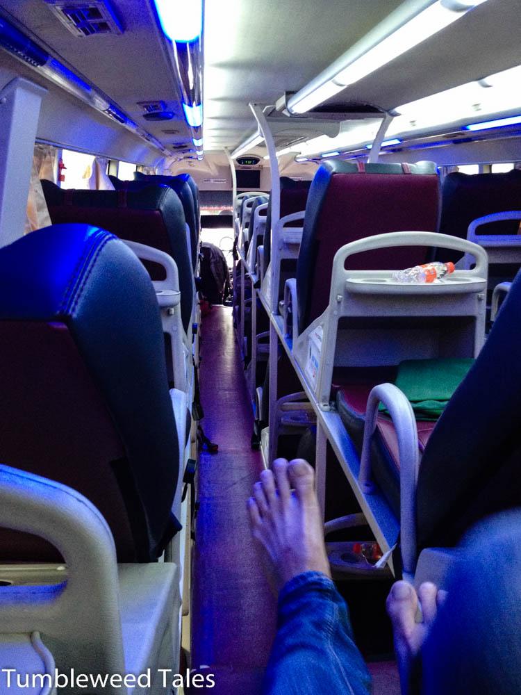 Unser Bus nach Mui Ne. Echt gemütlich!