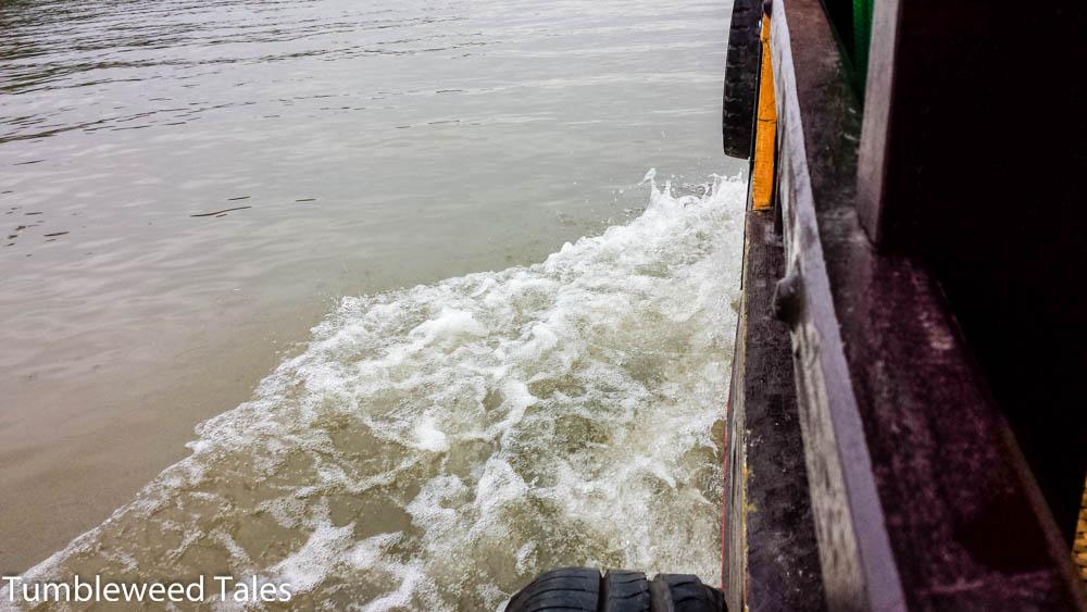 Blick aus dem Boot