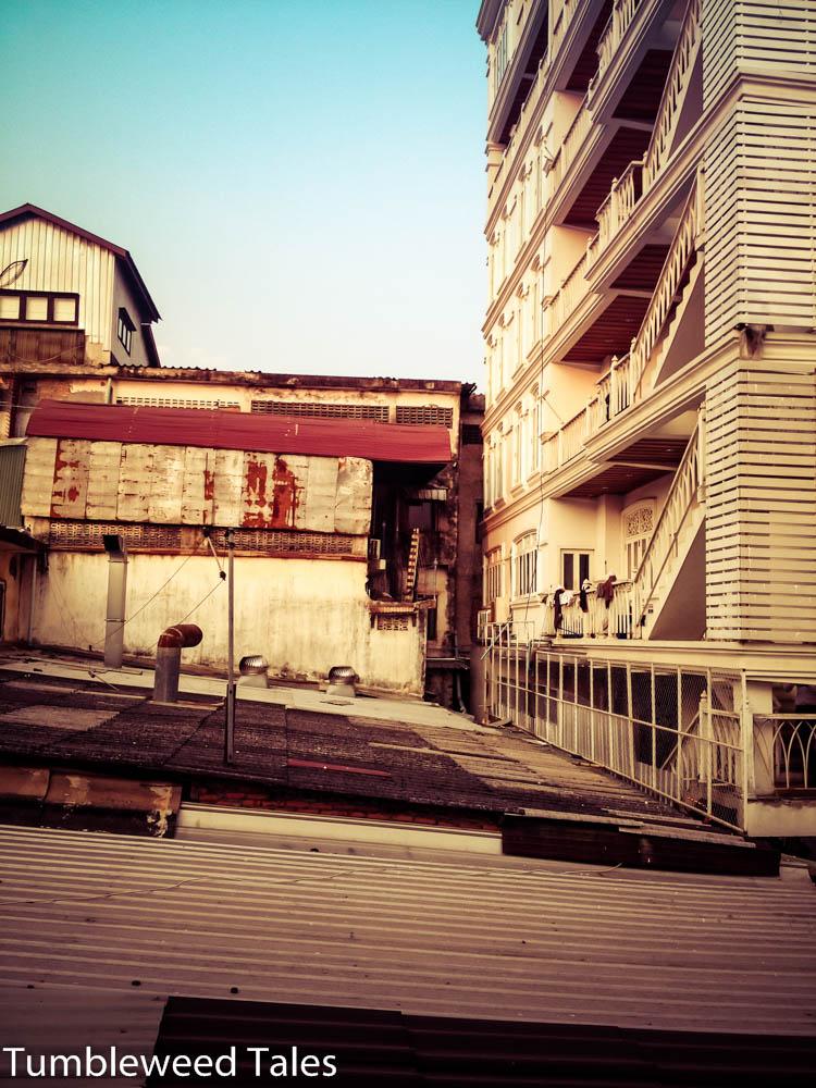 Blick aus meinem Hostel in Vientiane