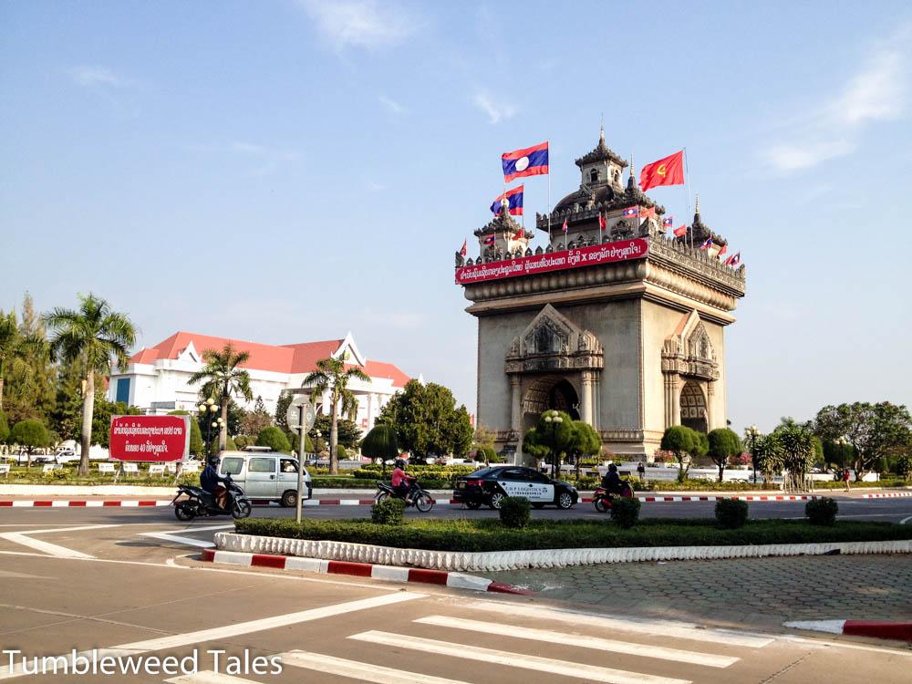 Der Triumphbogen in Vientiane