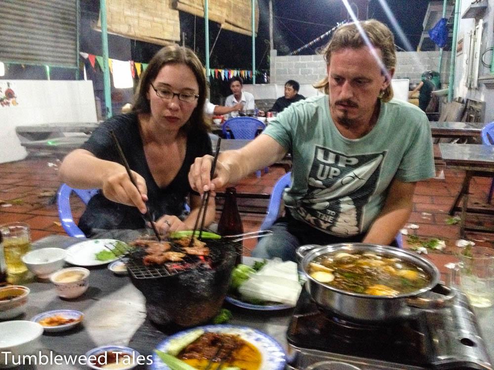 Tisch-Barbecue in Vietnam und Thailand