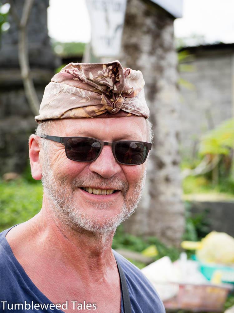 Etwas unauffälligere Kopfbedeckung für Papa