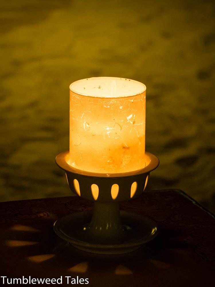 Kerzenschein am Strand
