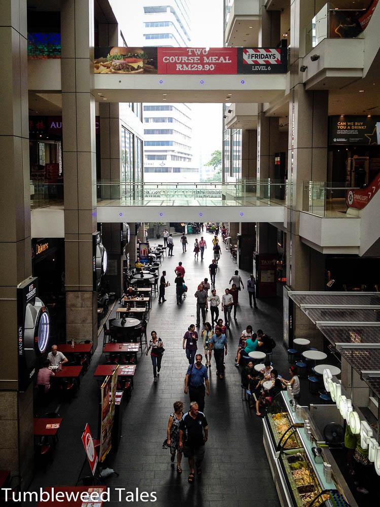 In einer Mall, irgendwo in der Nähe der Twin Towers
