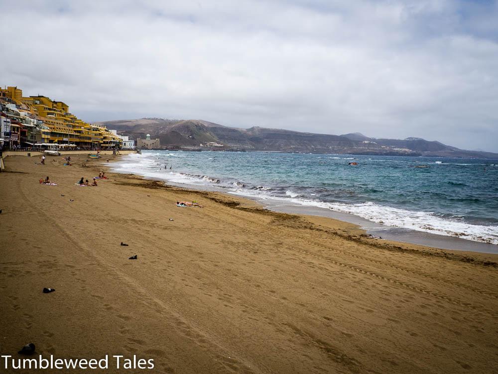 Der Playa de Las Canteras direkt vor unserer Wohnungstür