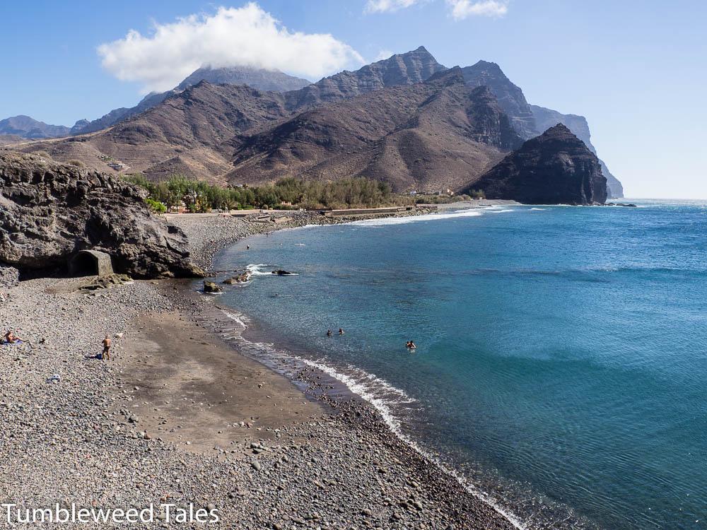 Der hübsche Steinstrand am Playa de la Aldea
