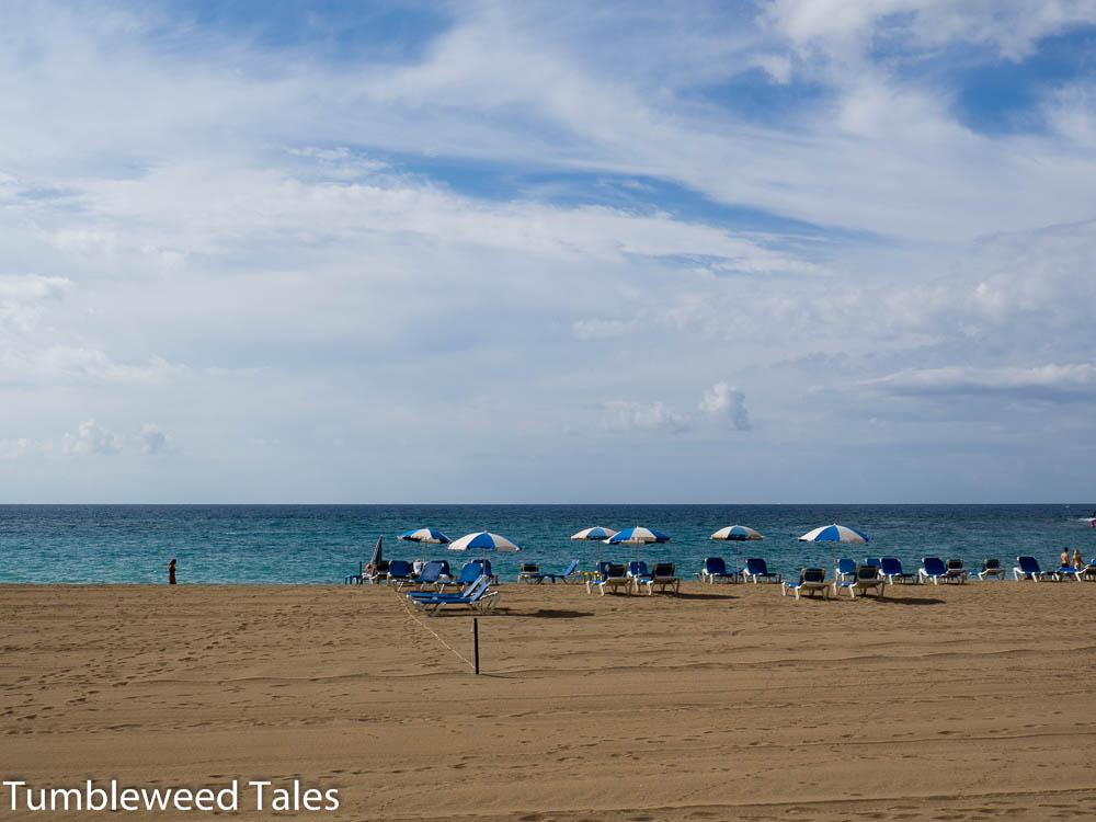 Der Urlaubsprospekt-Teil des Strandes