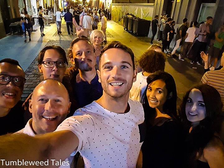 Tapas Night in der Altstadt – leider sind die meisten schon wieder abgereist :(