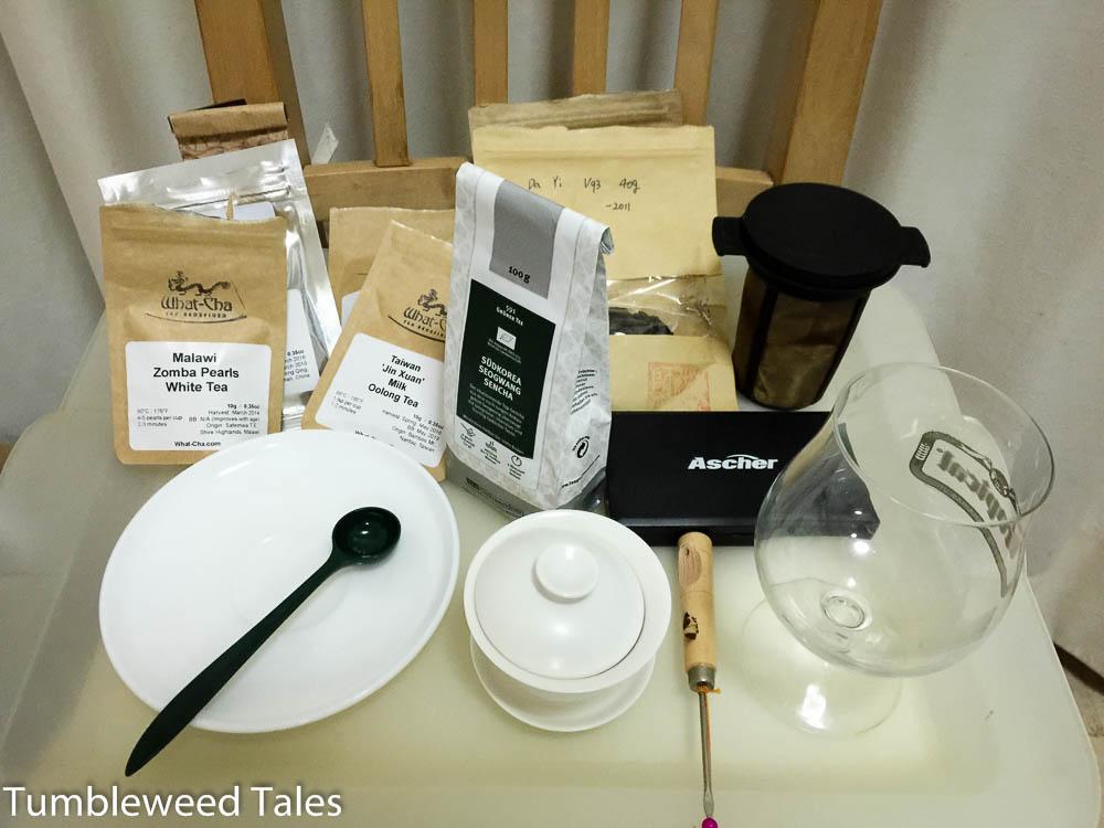 Ausgewählte Tees für's Tea Tasting.