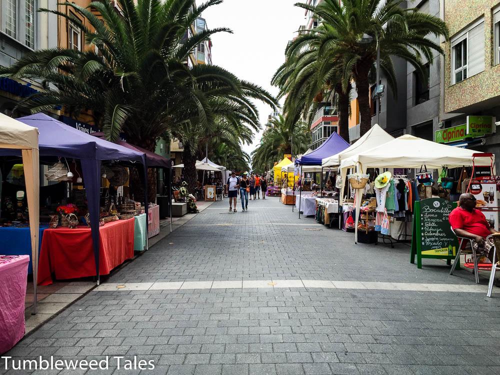In den Straßen von Las Palmas