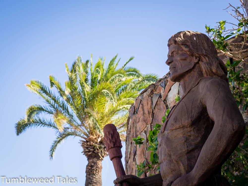 Ein Guanchen-Krieger begrüßt uns