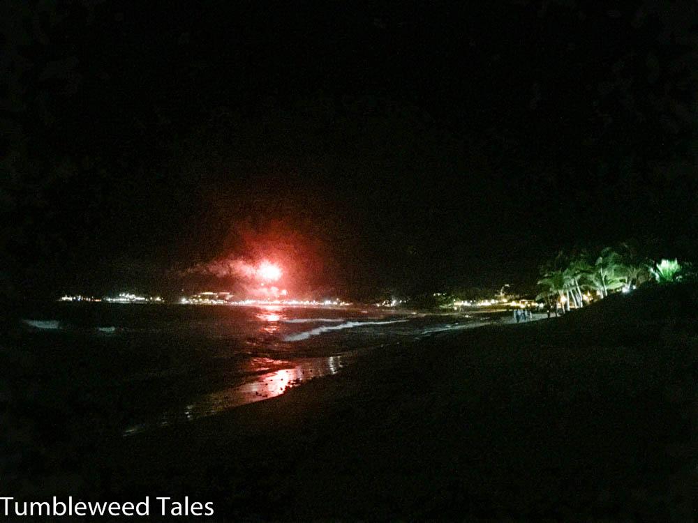 Feuerwerk am Strand von Cabarete