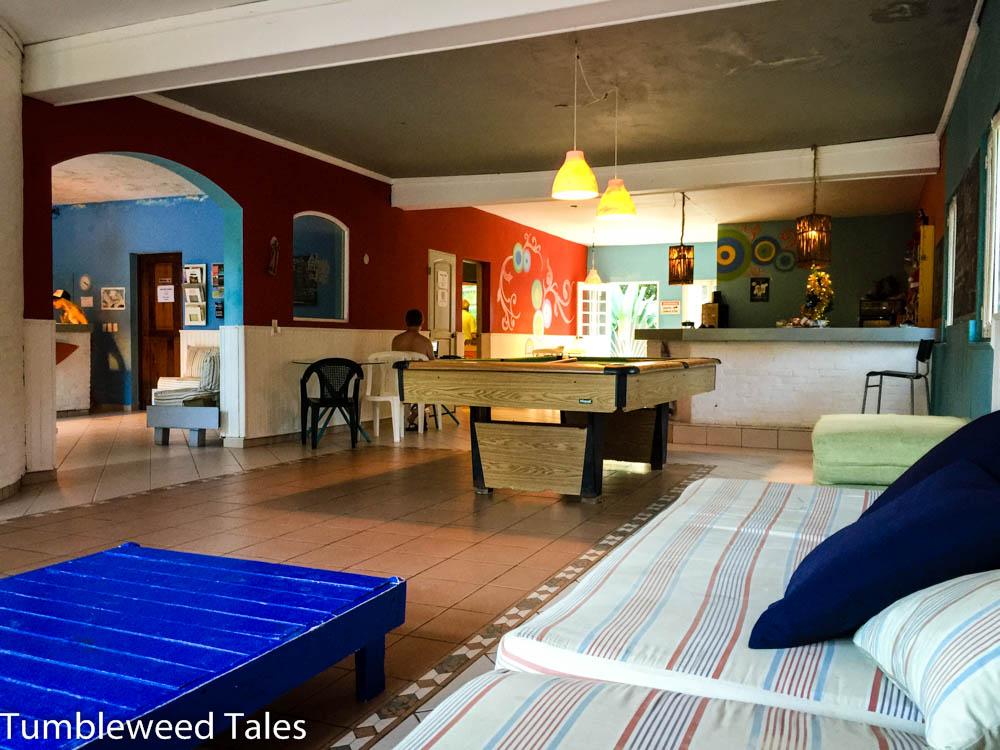 Unser gemütliches Wohnzimmer im Laguna Park Hostel