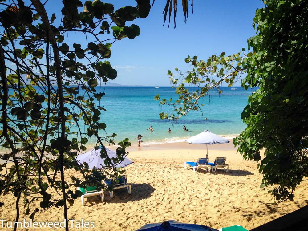 Aussicht von unserem Esstisch auf den wunderschönen Strand von Sosúa