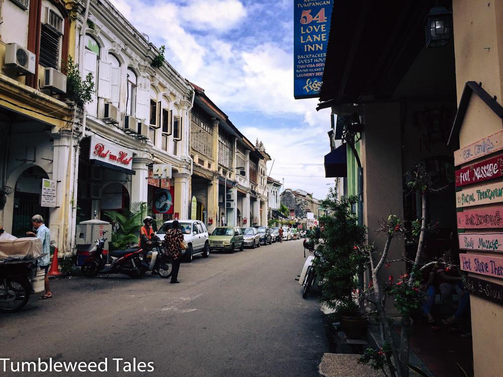 Die urige Altstadt von Georgetown auf Penang mit ihren chinesischen Handelshäusern