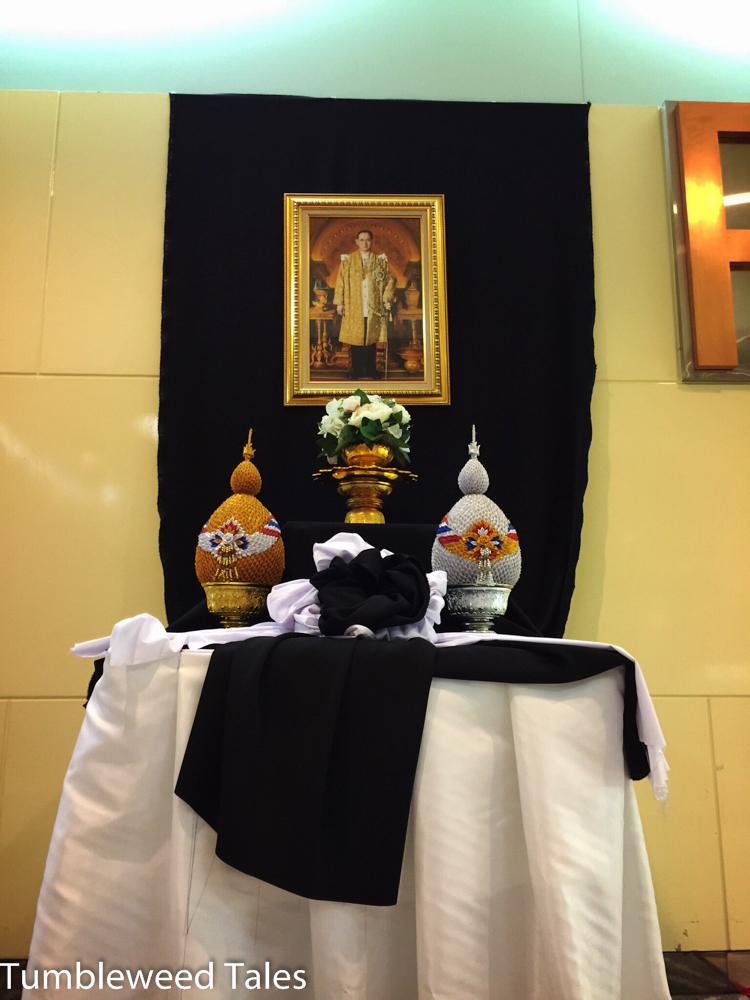 Schrein für den verstorbenen König Rama 9