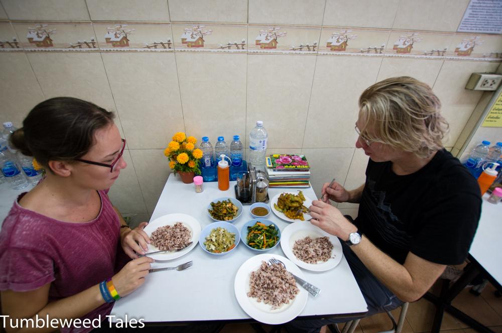 """Frühstück im Arway (sprich: """"arroi"""", also """"lecker""""). Vegetarische super-leckere Thai-Gerichte. Leider zu weit weg, als dass Nico und ich dort regelmäßig hingehen würden."""