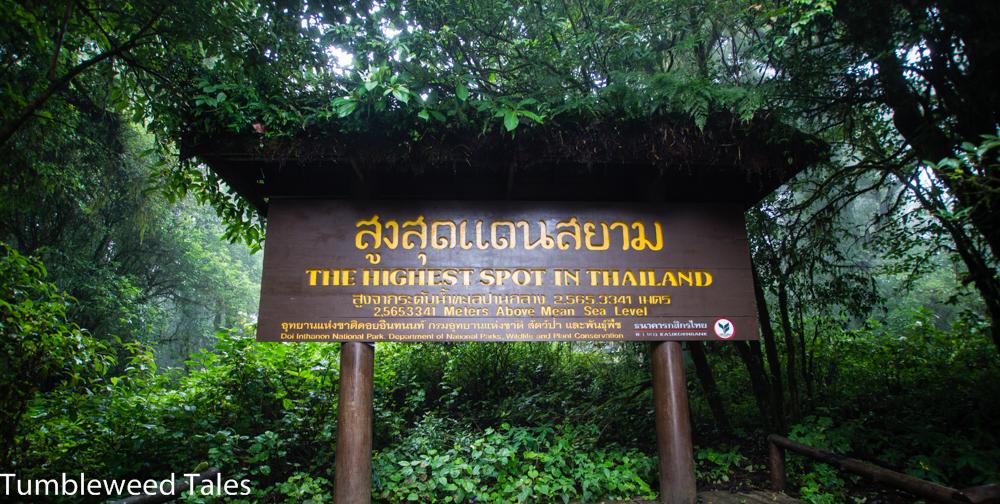 Der höchste Punkt von Thailand